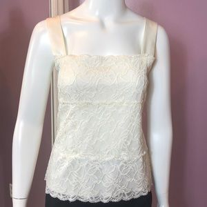 Coldwater Creek Satin & Lace Camisole